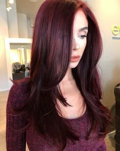 GLAM DARK BURGUNDY HAIR