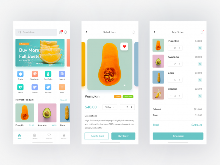 Groceries App by Sulton hand