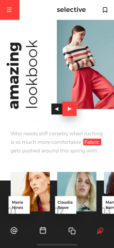 Fashion lookbook mobile by Taras Migulko