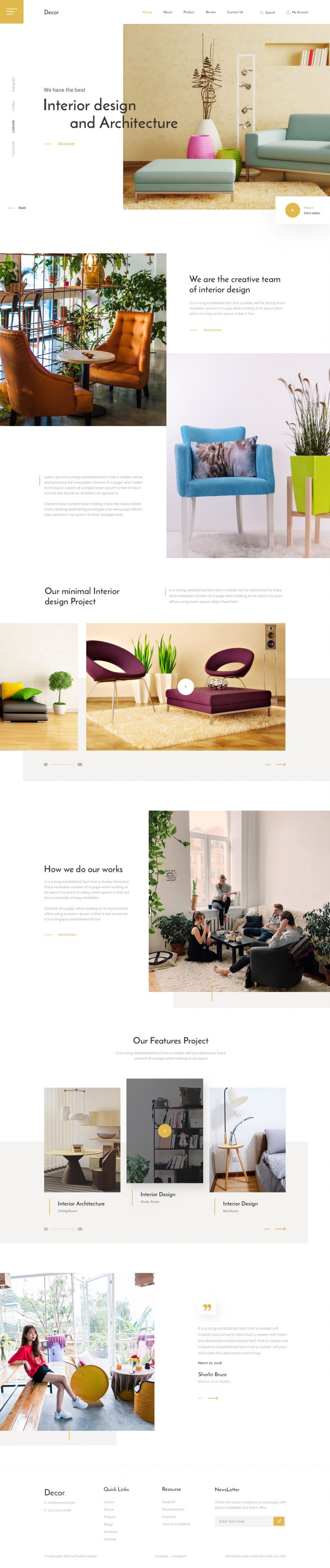 Interior Design – Landing Page by Saiful Khan