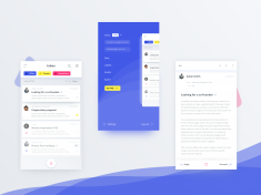 Mail client app (.sketch) by Alan Podemski