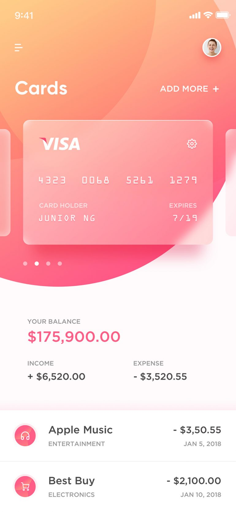 Payment – Mobile App Sample