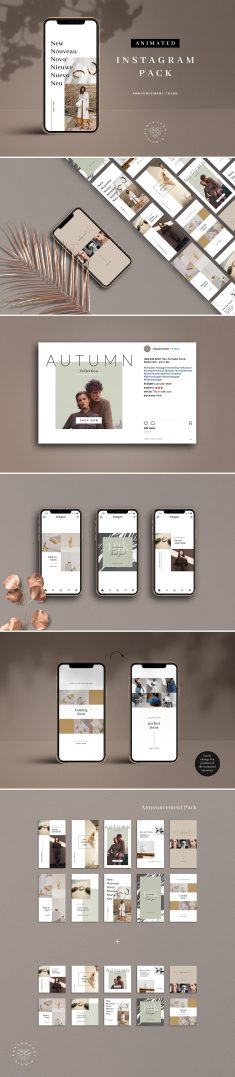 ANIMATED Neutral Instagram Bundle