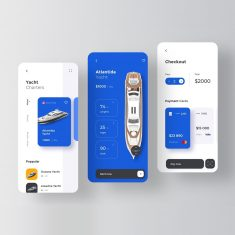 Yacht Rent Service by Ron Design Agency