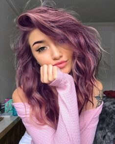 Purple in Hair