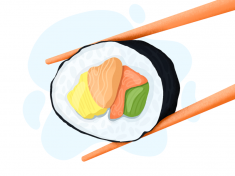 Sushi 🍣 illustration by Angel Villanueva
