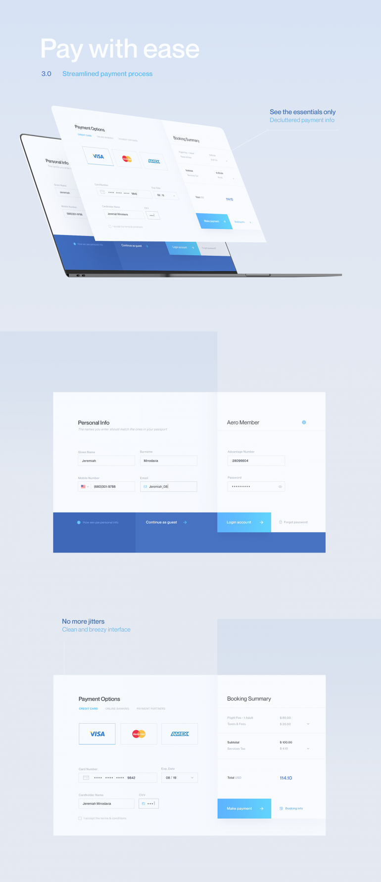 Airline Flight Booking UI/UX – Aero