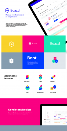 Board Admin Panel UI/UX Design.