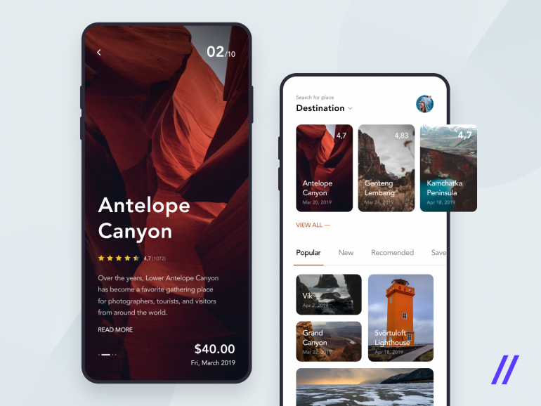 Travel Guide App Concept