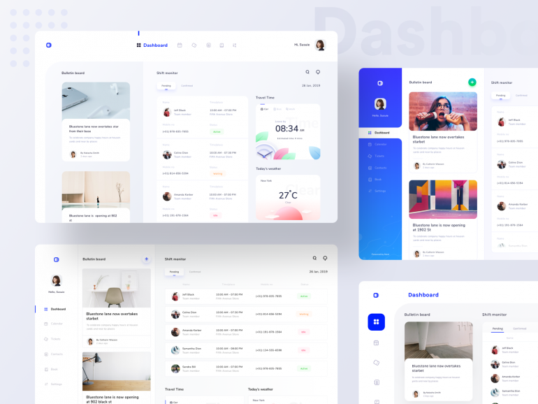 Dashboards collection for schedule and monitoring platform
