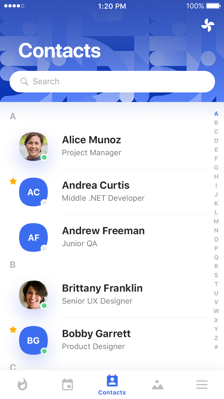 Contacts & Profile by Dmitriy Ivanov
