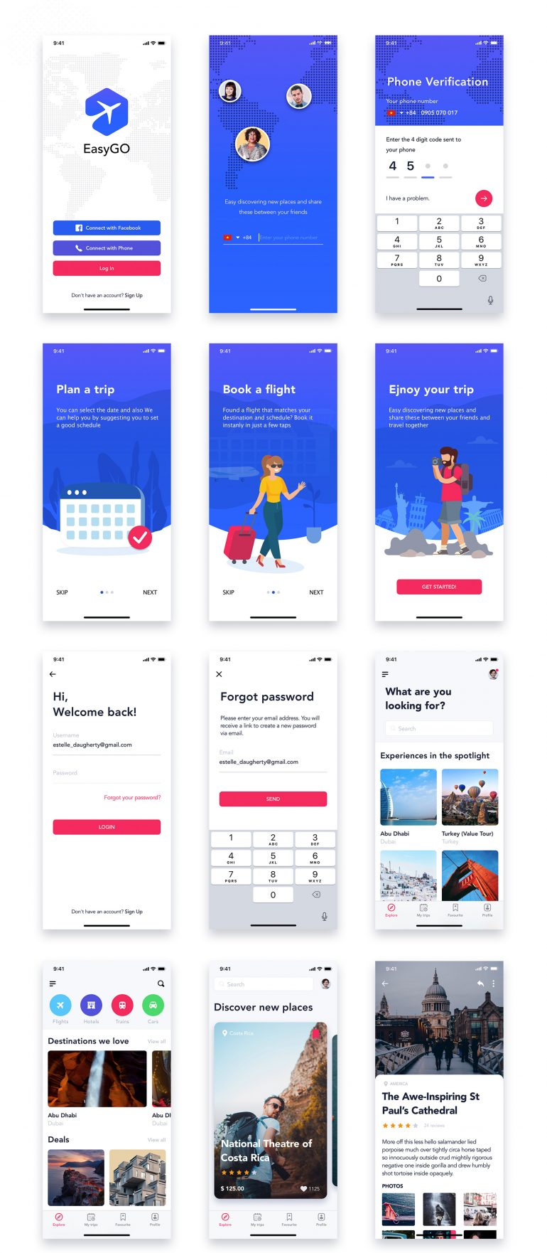 EasyGo – Travel App UI Kit by hoangpts