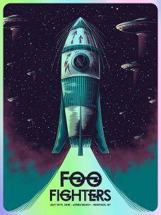 Arno Kiss Foo Fighters Jones Beach Wantagh Poster Release
