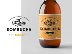 Kombucha branding by Alex Spenser