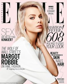 Margot stars on the cover of Elle Australia's March issue