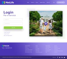 MetLife Redesign Login Page