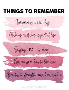 Things to remember in tough times