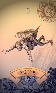 Steampunk Tarot Card: The Fool