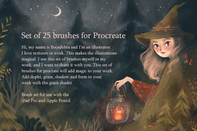 Texture brushes for Procreate on Inspirationde