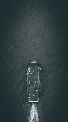 Top view of a boat photo by Izuddin Helmi Adnan