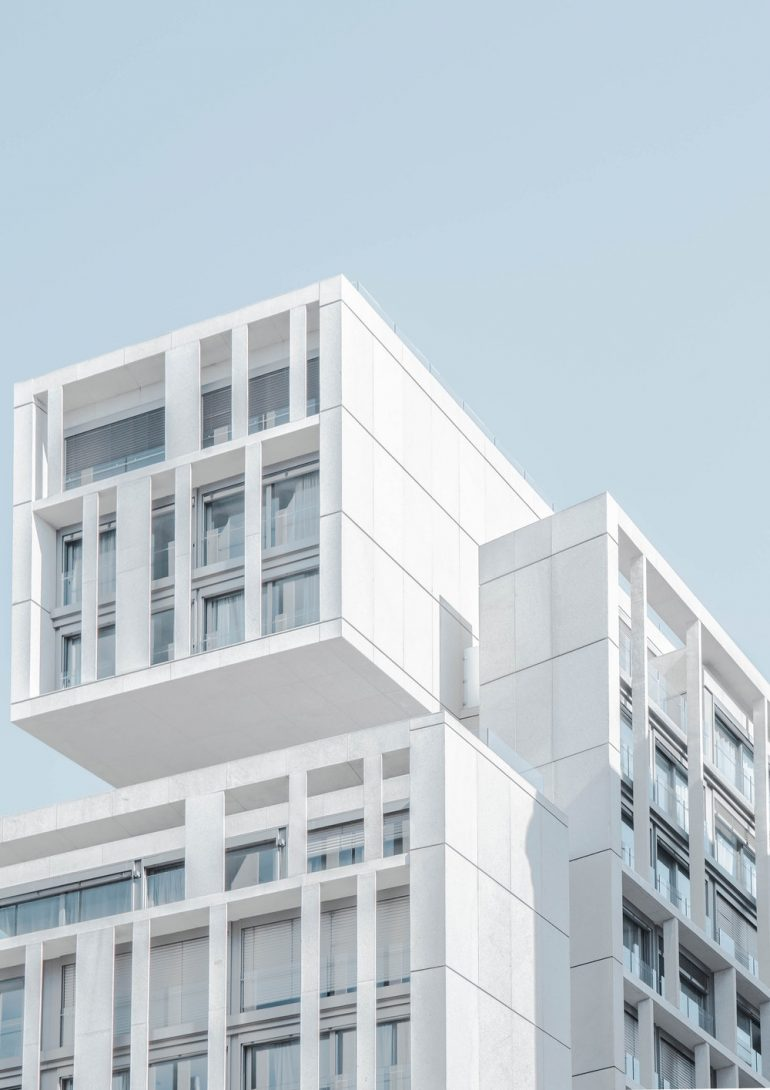 White apartment building