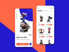 Action Figures Ecommerce App by tubik