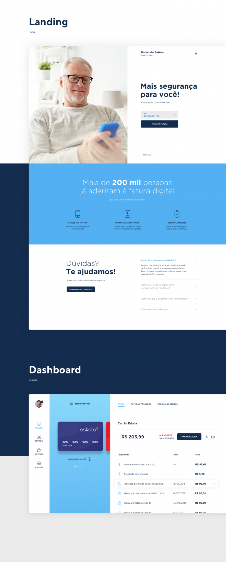 Cred System Landing Page