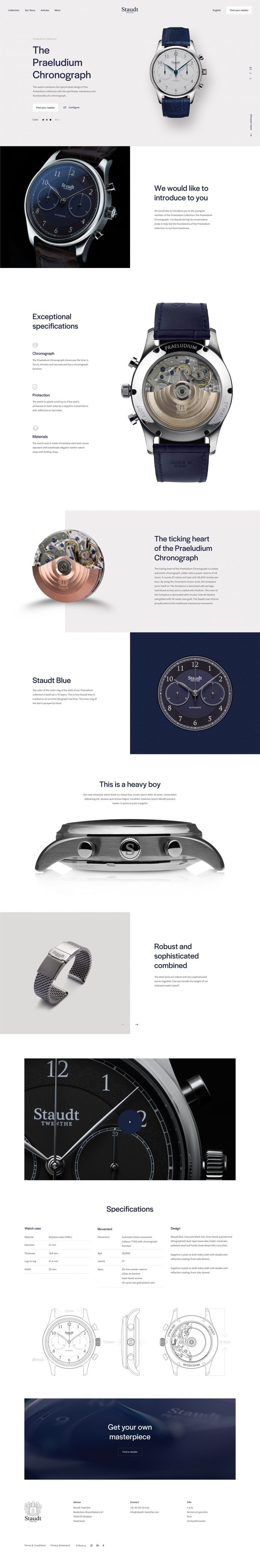 Staudt Product page