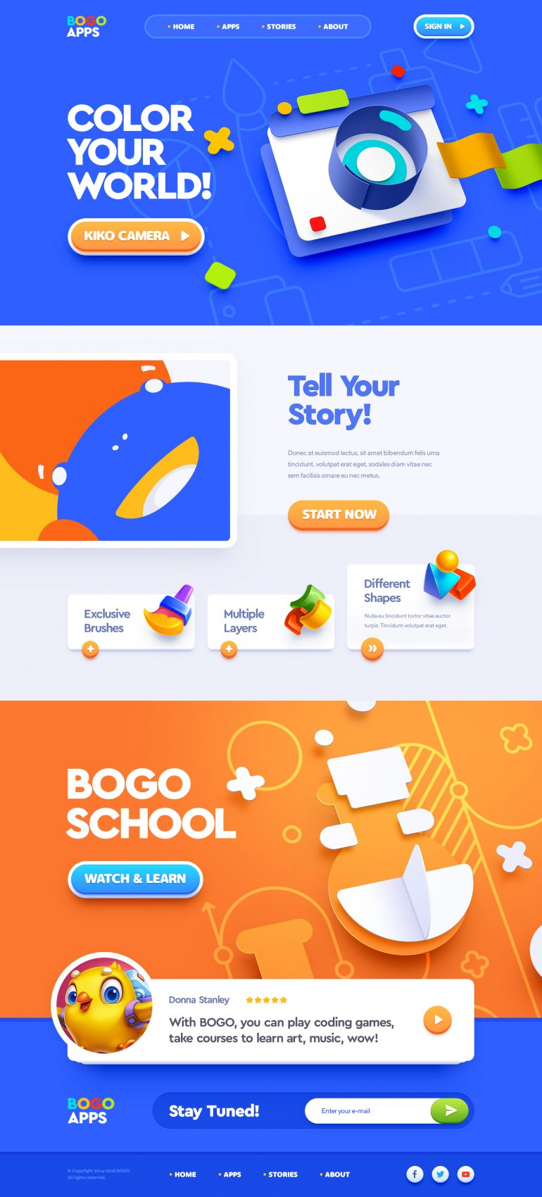Bogo Apps / Web site design