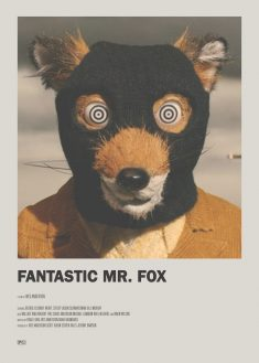 Fantastic Mr. Fox Minimal Movie Poster