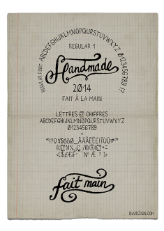 Fait main – Handmade font regular freehand