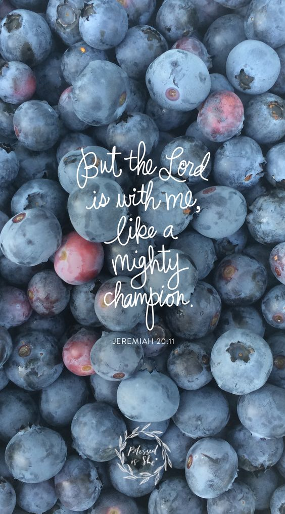 But the Lord is with me, like a mighty champion