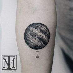 Black and Grey Jupiter Tattoo