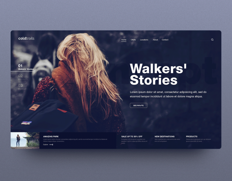 Cold Trails Theme – Inspiration template