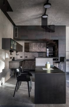 Shades of Gray Apartment in Moscow by Alexey Rozenberg