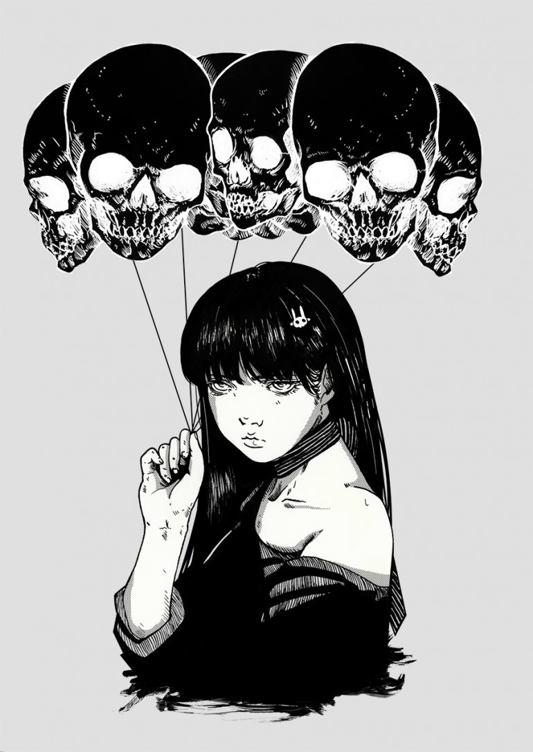 Skull Balloons by Thdreamgazer