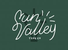 Sun Valley Lettering / Logotype