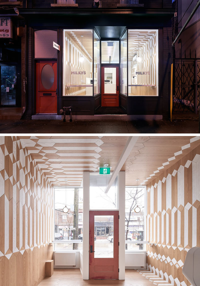 This New Coffee Shop Covered Their Interior With Two Tones Of Wood