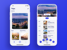 Travel Planner App by tubik