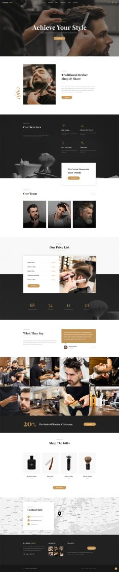 Barber Shop HTML Template