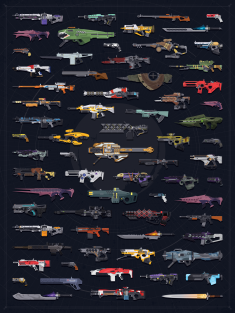 Destiny 1 Exotics Poster