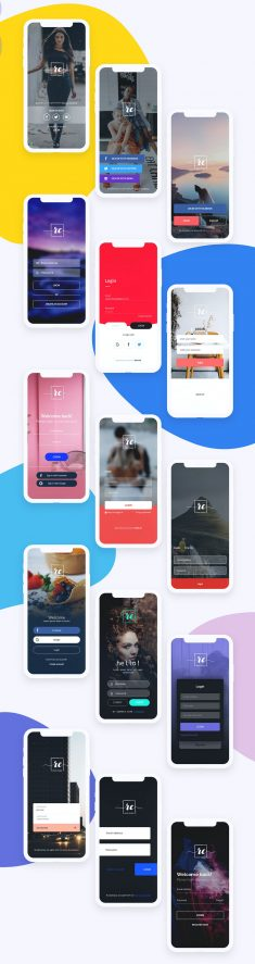 App Login Free UI Kit XD