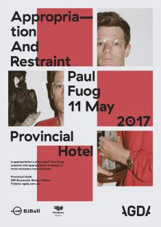 """Appropriation And Restraint"" lecture poster – Fonts In Use"