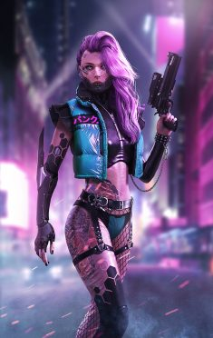 Cyberpunk female killer, DaoDao Mao