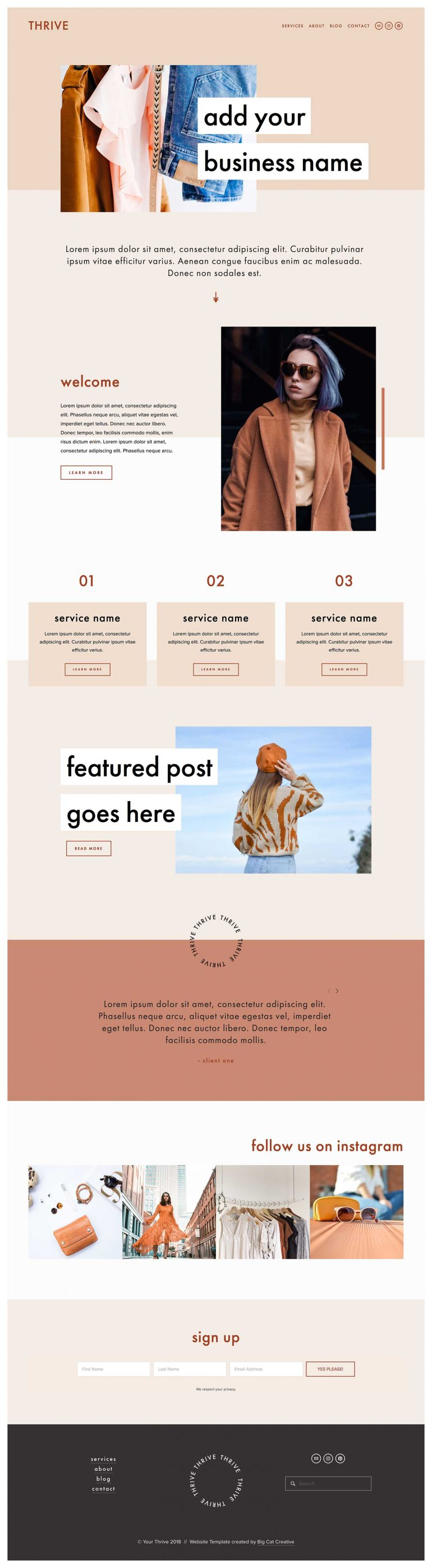 Thrive Squarespace Template