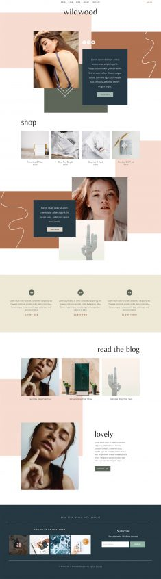 Squarespace Template: Wildwood