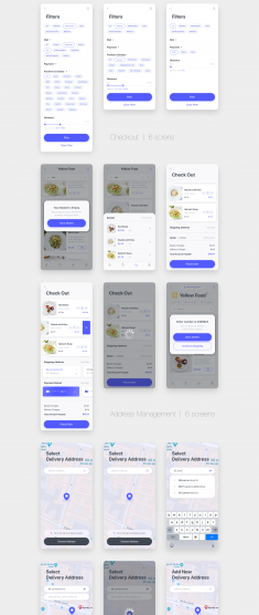 Delyo UI Kit | Food Delivery App