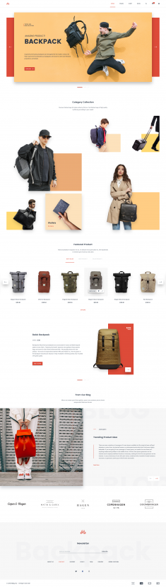 Backpack E-commerce Theme