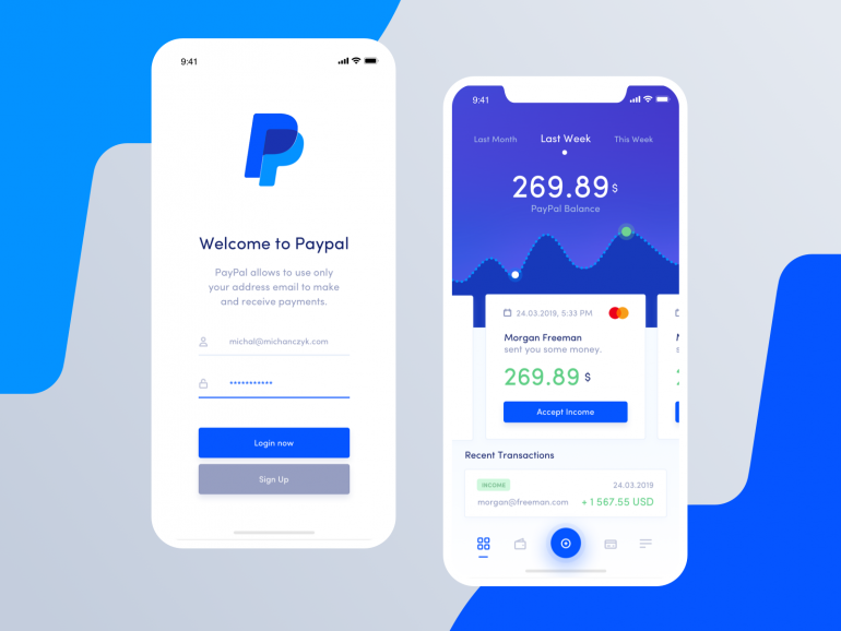 Paypal Redesign Concept – Mobile