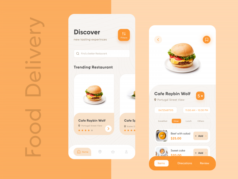 Food Delivery ios UI